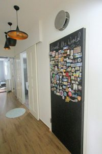 Sticking Magnets On Bomb Shelter, Beautifying Bomb Shelter Door, Style Degree, Singapore, SG, StyleMag