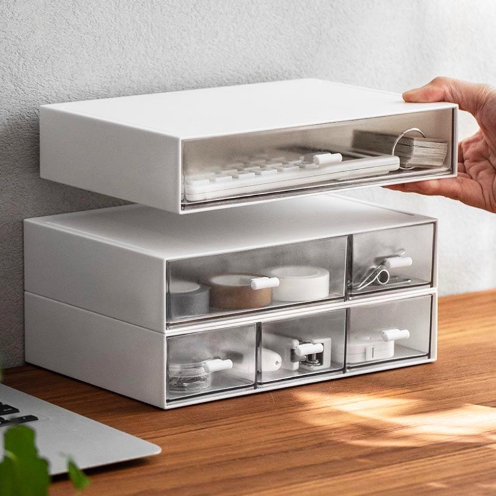 icon1 Multi Drawer Stackable Desk Organizer