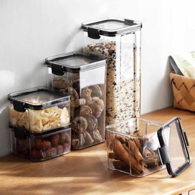 Sleek Stackable Dry Food Storage Container Pantry Fridge Holders Dried Goods Flour Sugar Style Degree Sg Singapore