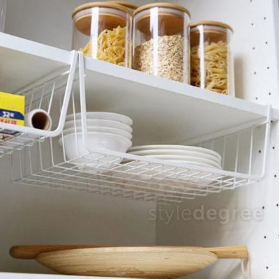 Grande Under Shelf Basket Organizer Wardrobe Closet Cabinet Hanging Storage Solution Style Degree Sg Singapore