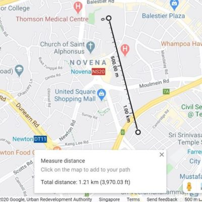 Google Maps, HDB Distance Enquiry Tool, HDB Acronyms, Style Degree, Singapore, SG, StyleMag