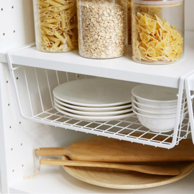 Grande Under Shelf Basket Organizer Wardrobe Closet Cabinet Hanging Storage Solution Style Degree Sg Singapore