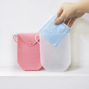 Portable Silicone Face Mask Storage Holder Pouch Carrying Case Style Degree Sg Singapore
