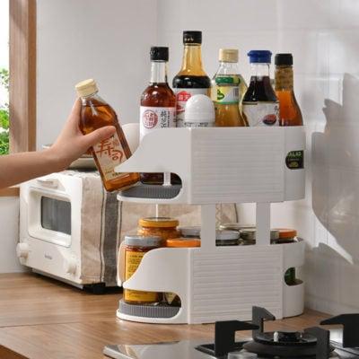 Slim Lazy Susan Turntable Kitchen Fridge Pantry Cabinet Storage Organizer Style Degree Sg Singapore