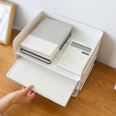 A4 Document Stackable Desk Tray Organizer Paper Holder Work Desk Setup Style Degree Sg Singapore