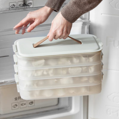 Seafood Dumpling Stackable Freezer Container Fridge Food Storage Kitchen Organization Style Degree Sg Singapore