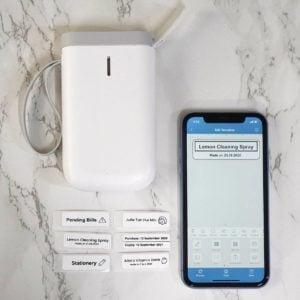 Mini Label Maker & Printer Machine Portable iOS Android Style Degree Sg Singapore