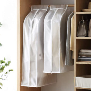 Anti-dust Hanging Clothes Cover (Wide) Closet Wardrobe Protector Hanger Style Degree Sg Singapore