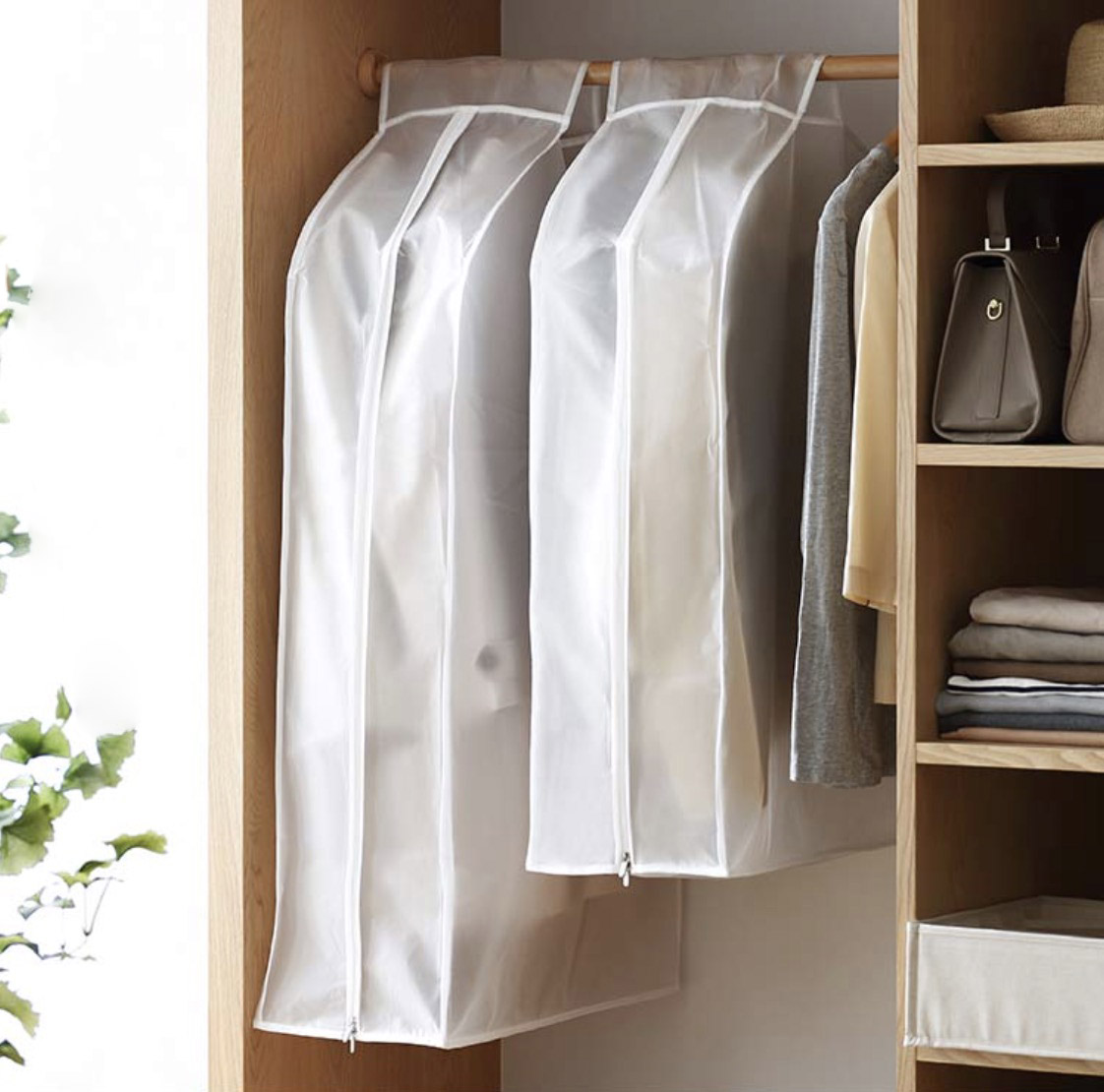 Closet Clothes Dust Covers Image Of Bathroom And Closet