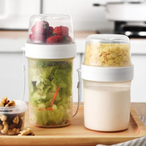Double-Sided Portable Food & Snacks Container Lunch Box Holder Baby Food Storage Box Style Degree Sg Singapore