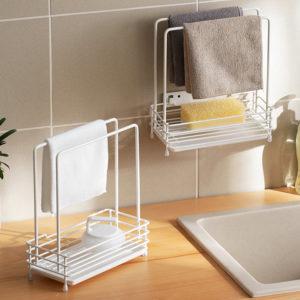 Grande Kitchen Sponge Towel Holder (With Tray) Kitchen Sink Basin Organisation Storage Style Degree Sg Singapore