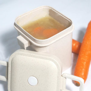 Eco Wheat Straw Leak-proof Soup Container Lunch Box Holder Bento Style Degree Sg Singapore