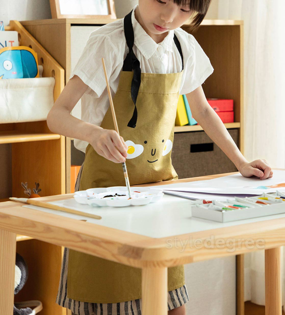 Family Kids Kitchen Apron Cook With Children Style Degree