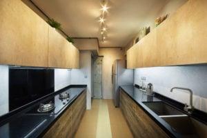 Galley kitchen layout, Kitchen working triangle, kitchen triangle in galley kitchen, Style Degree, Singapore, SG, StyleMag.