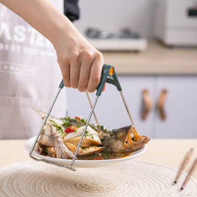 Hot Plate Dish Clamp Gripper Clip Kitchen Cooking Tools Oven Baking Steaming Accessories Safety Style Degree Sg Singapore