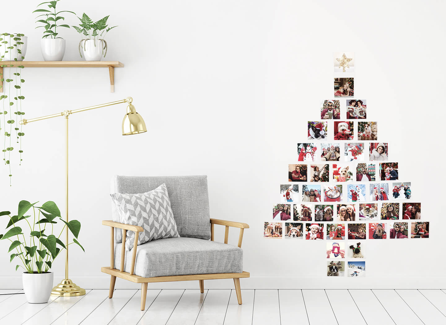 Photo Collage Christmas Tree Stylemag Style Degree