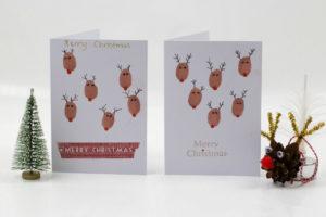 Reindeer fingerprint Christmas card, Christmas card ideas for kids, handmade Christmas cards, unique Christmas craft ideas for kids, Style Degree, Singapore, SG, StyleMag.