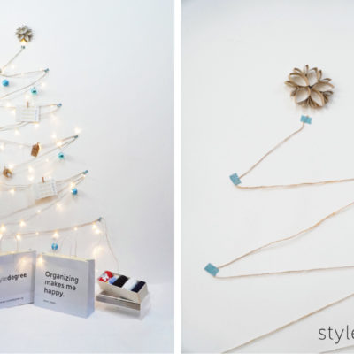 Twine string Christmas tree, space saving Christmas tree, creative Christmas trees for small spaces, wall Christmas trees, Style Degree, Singapore, SG, StyleMag.
