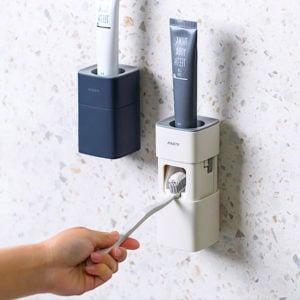 Easy Toothpaste Dispenser Wall Holder Bathroom Toilet Toiletries Style Degree Sg Singapore
