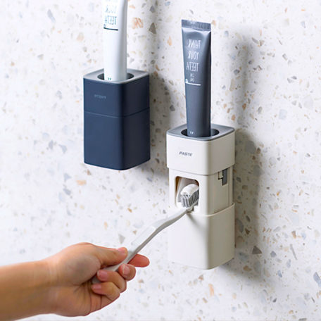 Easy Toothpaste Dispenser Wall Holder Bathroom Toilet Toiletries Style Degree Sg Singapore