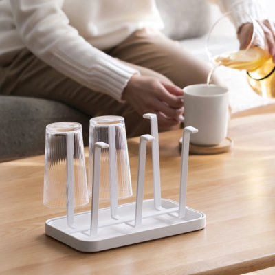 Luxe Cups Mugs Holder Dryer Drainer Kitchen Rack Dining Pantry Style Degree Sg Singapore