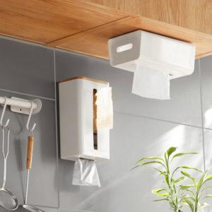 Scandinavian Tissue Plastic Bag Hanging Dispenser Kitchen Pantry Wall Holder Trash Bag Roll Storage Dispenser Style Degree Sg Singapore