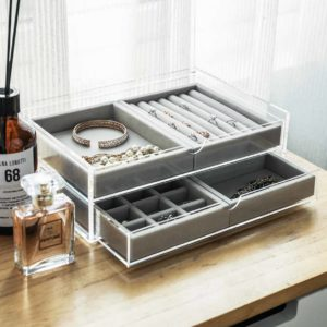 The Elegance Customisable Jewellery Box Accessories Necklace Ring Box Watch Earrings Desk Vanity Table Style Degree Sg Singapore