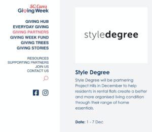 SG Cares Giving Week 2020, Giving Week 2020 Singapore, Sg Giving Week 2020, Style Degree, Singapore, SG, StyleMag.