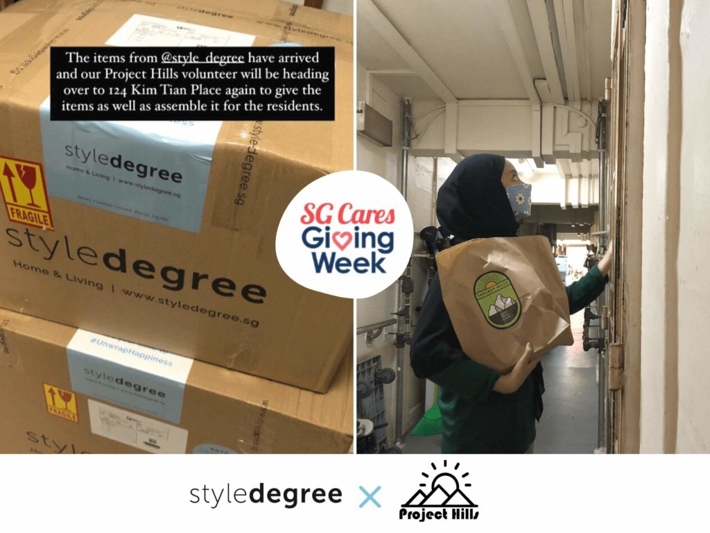StyleCares with Project Hills: Delivering Happiness To The Underprivileged In Rental Flats, Project Hills, Giving Week, SG Cares Giving Week 2020, Non-profit organisations, Style Degree, Singapore, SG, StyleMag.