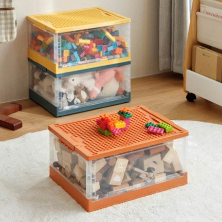 Kids Collapsible Storage Box (With Wheels) Children Toys Baby Book Clothes Lego Storage Solution Style Degree Sg Singapore