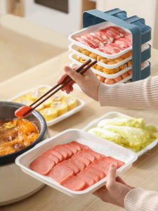 Sliding Steamboat Dining Plates Hotpot Plates Plate Holder Dining Chinese New Year CNY Style Degree Sg Singapore