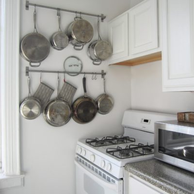 Hang pots and pans in small kitchen, pots and pans cabinet storage ideas, diy pots and pans storage ideas, how to hang pots and pans in small apartments, Style Degree, Singapore, SG, StyleMag.