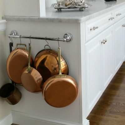 Hang pots and pans at the side of cabinet, pots and pans storage ideas, hacks for storing pots and pans, diy pots and pans storage ideas, Style Degree, Singapore, SG, StyleMag.
