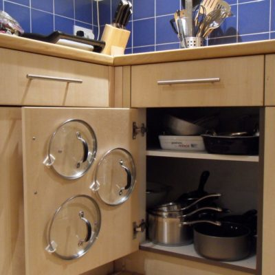 How to organize pots & pans in a small kitchen, Pot lid door storage, DIY storage hack, Style Degree, Singapore, SG, StyleMag.