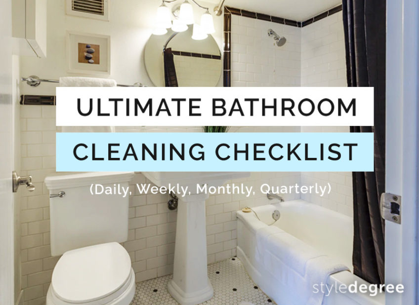 The Ultimate Bathroom Cleaning Checklist (+ Free Printable)