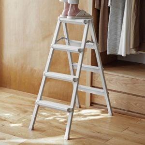 Aluminium Portable Home Ladder Foldable 3 and 4 Step Slim Style Degree Sg Singapore