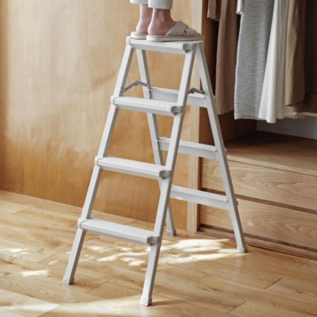 Aluminium Portable Home Ladder Foldable 3 and 4 Step Slim Style Degree Sg Singapore