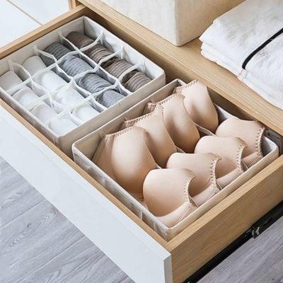 Canvas Lingerie & Undergarment Closet Organizer Socks Underwear Wardrobe Storage Solution Organization Style Degree Sg Singapore