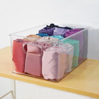 Clear Multi-Purpose Storage Bin Container Box Wardrobe Closet Storeroom Solution Style Degree Sg Singapore