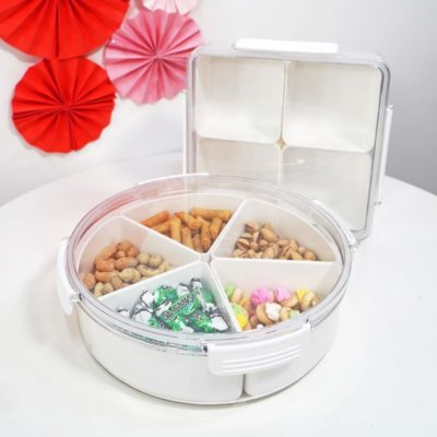 Reunion Airtight Snacks Container Chinese New Year Goodies CNY Platter Plate Organizer Style Degree Sg Singapore