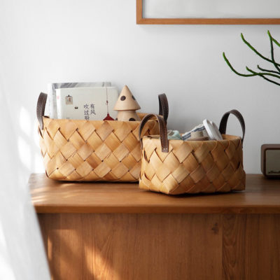 Rattan Storage Basket (With Handles) Box Container Keys Entryway Style Degree Sg Singapore