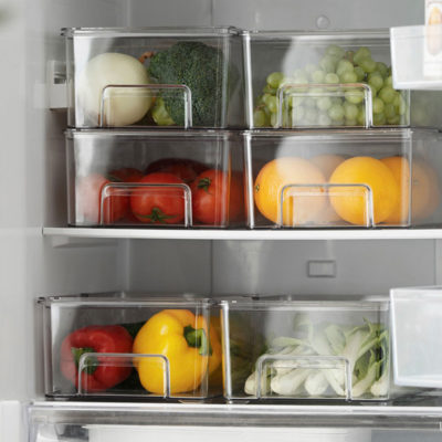 Klear Fridge Storage Box With Foldable Lid Food Container Kitchen Style Degree Sg Singapore