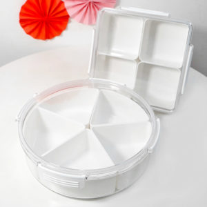 Reunion Airtight Snacks Container Chinese New Year Goodies Platter Plate Organizer Style Degree Sg Singapore