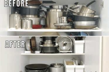 How To Organize Pots & Pans In Your Kitchen Cabinets