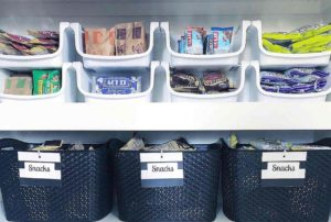 Backstock bin for excess food, how to decant food, pantry organization hacks, pantry organization tips, Style Degree, Singapore, SG, StyleMag.