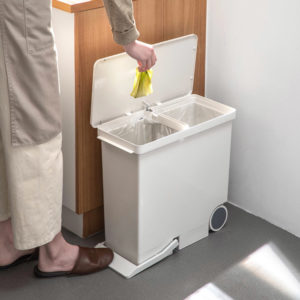 Slim Rollable Step Pedal Dustbin Kitchen Bathroom Recycling Separate Style Degree Sg Singapore