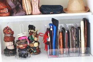 File clutches in magazine holder, bag organization ideas, diy handbag storage ideas, Style Degree, Singapore, SG, StyleMag.