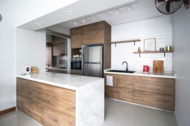 How To Keep A HDB Open Concept Kitchen Clean & Organized