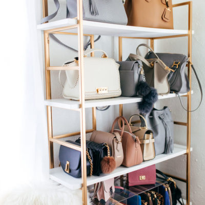 Organizing handbags on shelves, bag organization ideas, diy handbag storage ideas, how to store bags, Style Degree, Singapore, SG, StyleMag.
