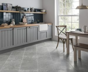 Use stone or rough kitchen tiles, benefits of stone flooring, how to tackle open concept kitchen oil, Style Degree, Singapore, SG, StyleMag.
